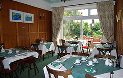 the large dining room at Tudor court falmouth