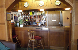 well stocked fully licenced bar at tudor Court falmouth
