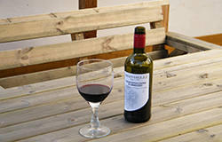 enjoy a bottle of wine from the fully licenced bar at Tudor court falmouth