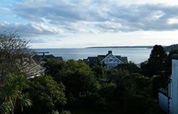 The view from the family room at Tudor court falmouth